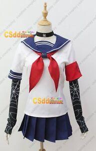 Details about Yandere Simulator OkaStalk Cosplay Costume spider stockings  japan uniform CS