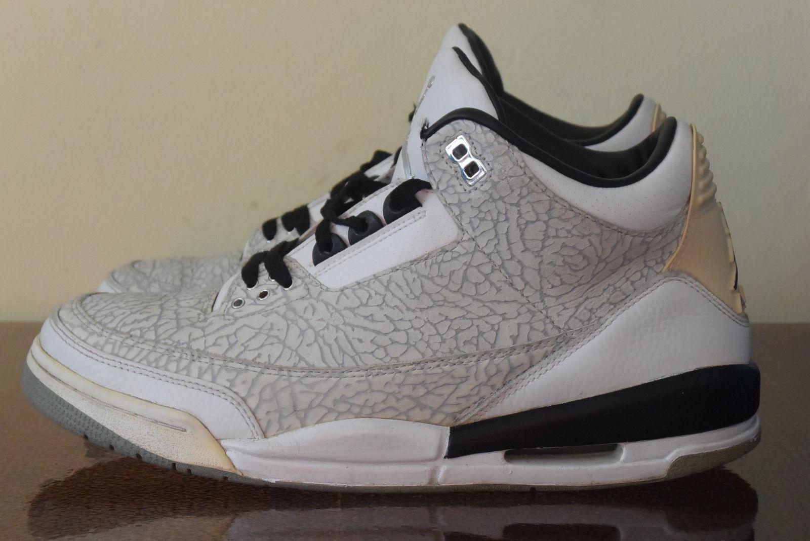 Nike Air Jordan 3 Retro Flip White Black Cement 315767-101 Sz. 10.5