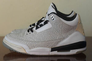 10298a1a00ec Nike Air Jordan 3 Retro Flip White Black Cement 315767-101 Sz. 10.5 ...