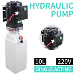 NEW-10L-Single-Acting-Hydraulic-Pump-Dump-Trailer-220V-Power-Unit-Lift-for-Car
