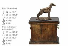 Doberman uncropped, Urne, Kalte Bronze, ArtDog, DE, Type 2
