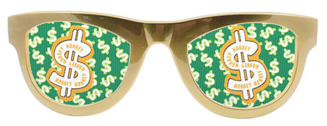 b70e2ab2f8d Party Glasses Dollar Metallic Gold XXL Pimp 70s for sale online