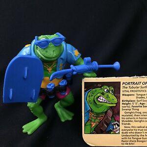 Playmates Vtg Teenage Mutant Ninja Turtles Genghis Frog Complete
