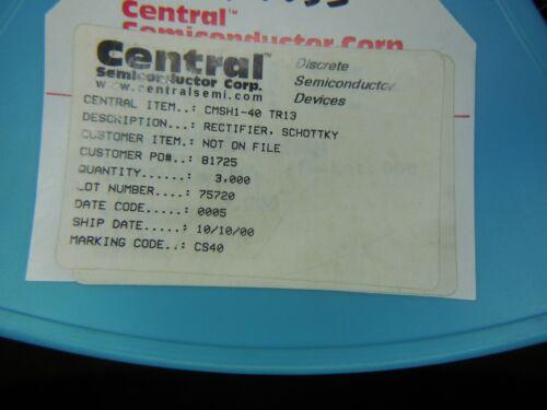 100pcs SMB Central Semiconductor 1A//40V Schottky Rectifier CMSH1-40