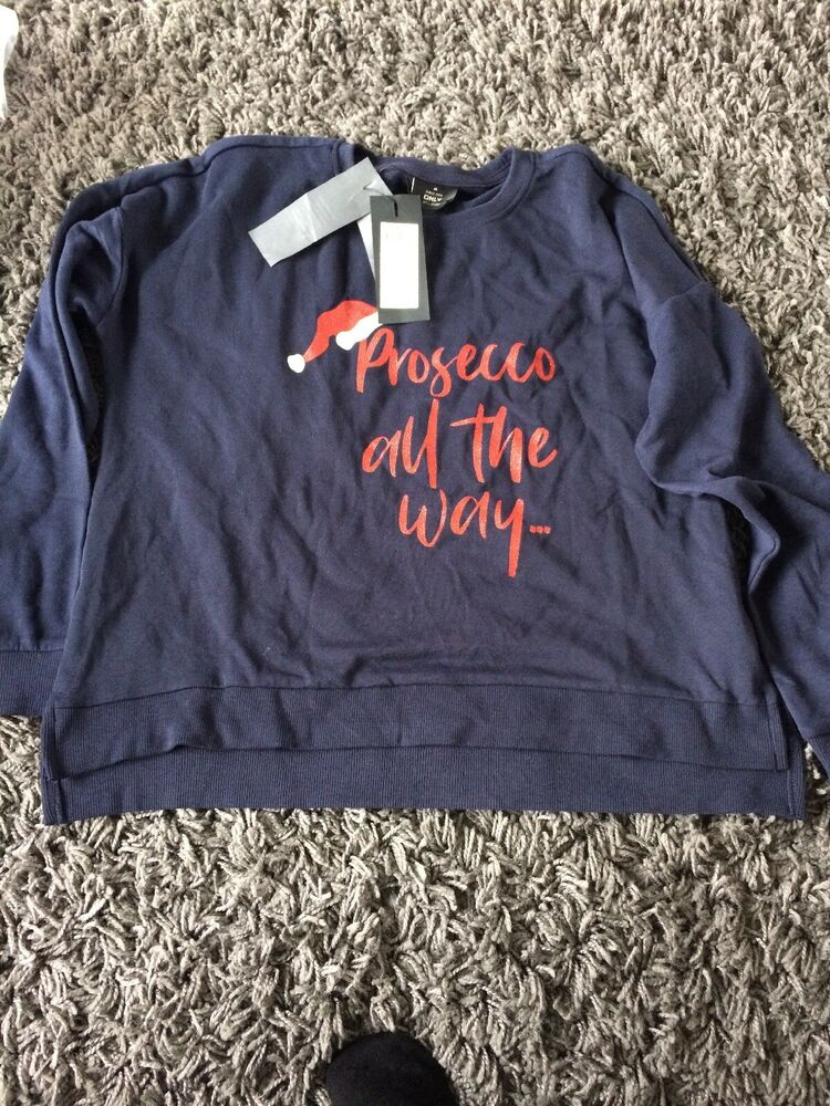 Seuls Nos Story Prosecco All The Way Christmas Sweater Femmes Medium