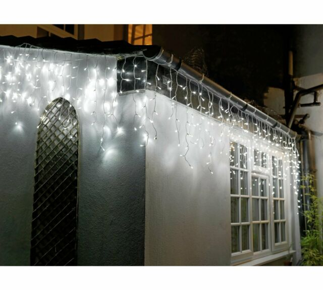 Home 720 Icicle Lights, Outdoor Icicle Lights Warm White Argos
