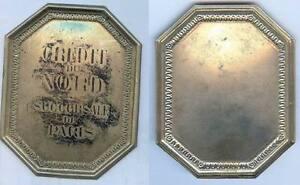 Plaque de métier - Crédit du Nord succursale PARIS matriçage 2xFWWPbv-09092258-178108170