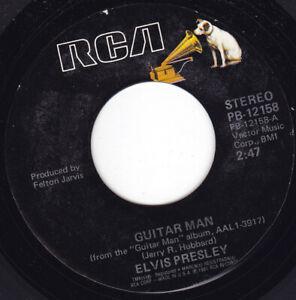 """ELVIS PRESLEY - Guitar Man  7"""" 45"""