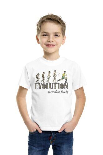 Rugby Evolution Kids Boys Girls T-Shirt Choose Country 6 Nations Kit Retro Strip