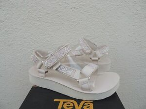 8a558c39dbf5 Image is loading TEVA-MIDFORM-UNIVERSAL-GLAM-PINK-TINT-GLITTER-LEATHER-