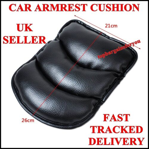 2 x Car Armrest Center Console Pad Cover Cushion Support Box Mat Universal Black