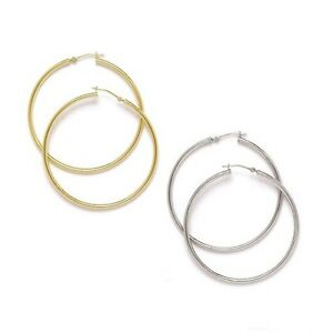 ROUND-HOOP-EARRINGS-14K-SOLID-GOLD-WHITE-YELLOW-BRAND-NEW-ITALY-MADE-10MM-45MM