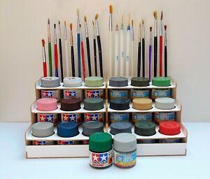 Botella-de-pintura-Rack-Modular-Organizador-Para-Tamiya-pintura-Gunze-18-botes