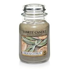 ☆☆SAGE & CITRUS☆☆ LARGE YANKEE CANDLE JAR☆POPULAR  SCENTED CANDLE