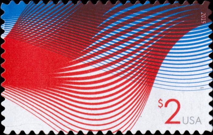 2015 $2 Patriotic Wave, Billowing Flags Scott 4954 Mint