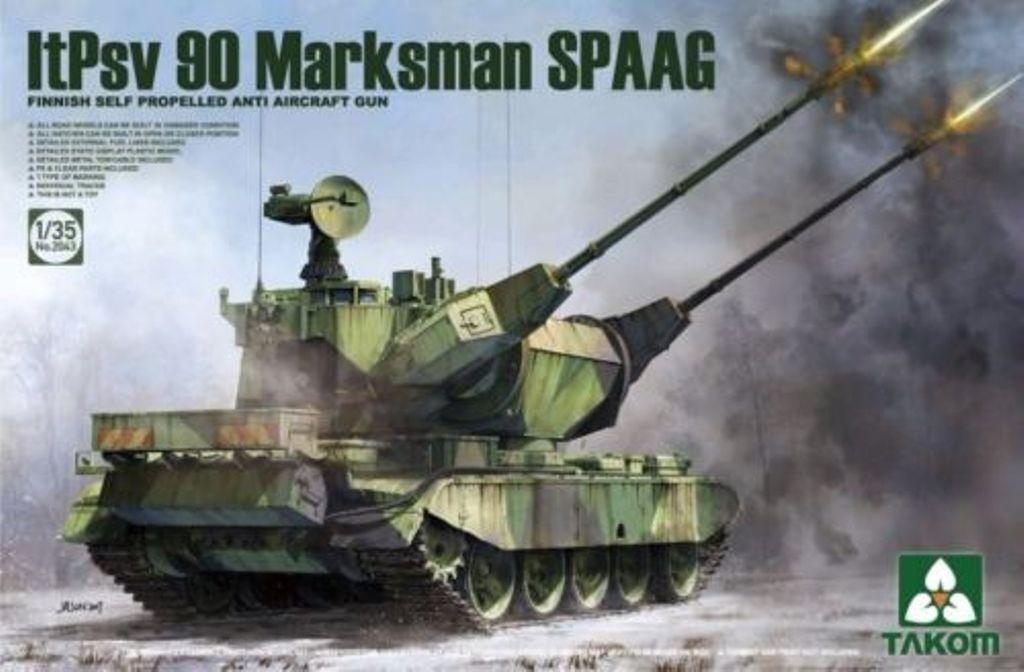 Takom 1 35 Finnish SP Anti Aircraft Gun ItPsv 90 Marksman SPAAG Kit
