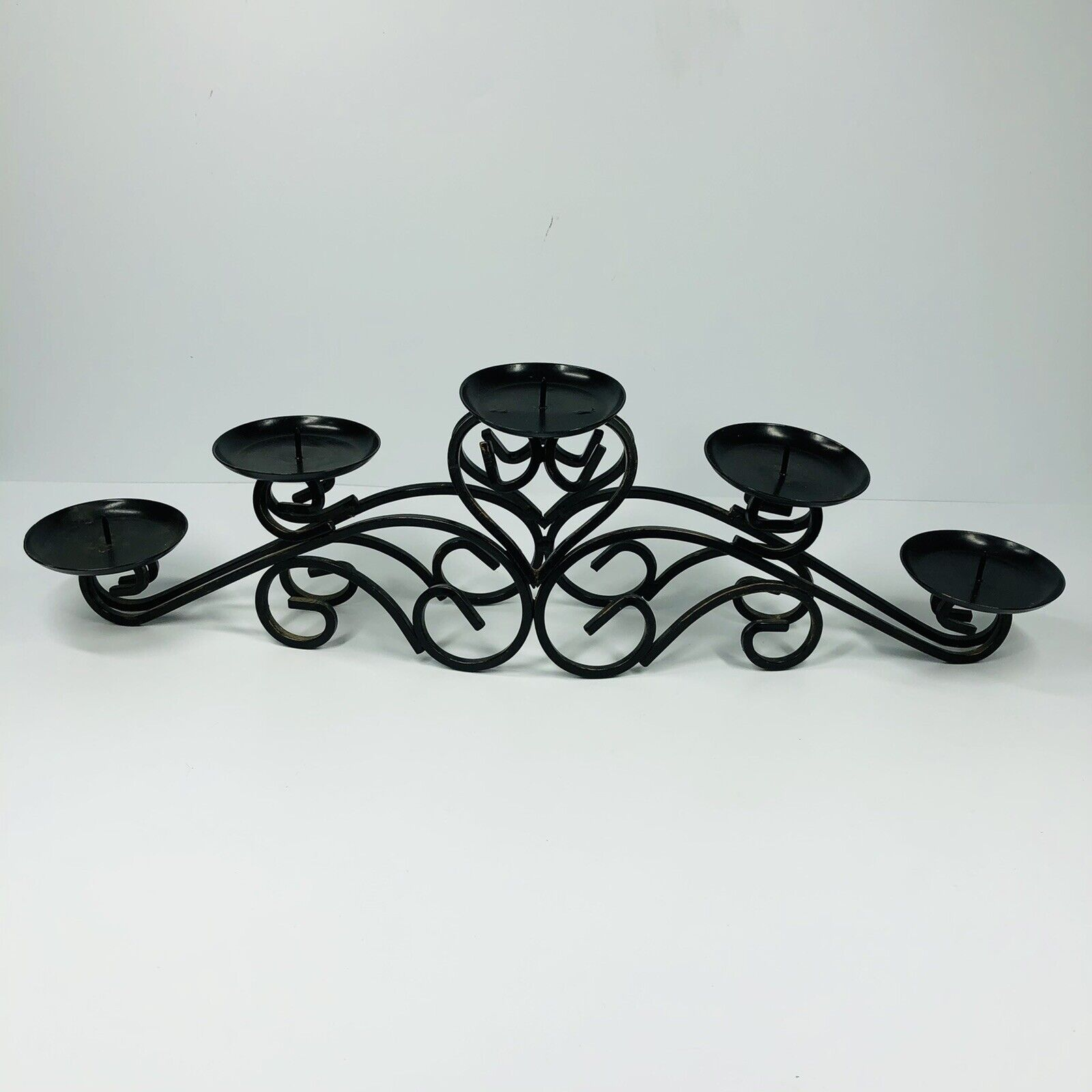 Candle Holder Totobay Round Black Wrought Iron Table Candleholder Centerpiece 6 For Sale Online Ebay