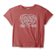 Lucky Brand Girls Front Tie Knot Tee t Shirt Livia Red Peach Lavender Black NWT