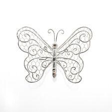 Farfalla in Metallo invecchiato Wall Art per la casa o giardino BELLA finitura anticata