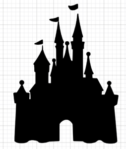Disney Castle Stencil Airbrush Crafting Wall art Home Decal