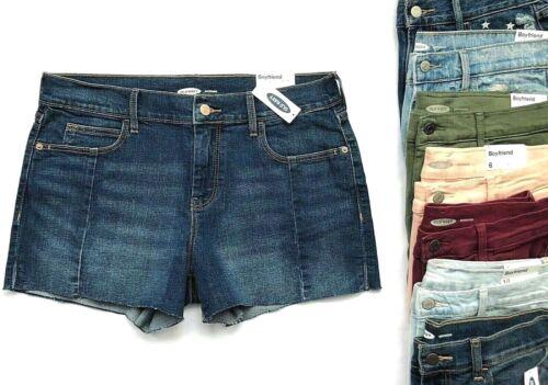 """Boyfriend Denim OLD NAVY Women/'s Cut-Off Hem 2/"""" 3/"""" Inches Inseam Shorts Sz.0-16"""