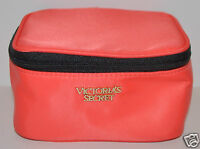 Victoria's Secret Orange Makeup Cosmetic Beauty Bag Travel Pouch Square Small