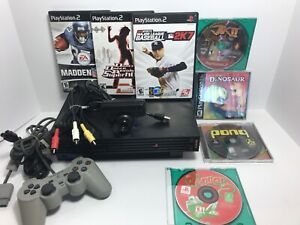 Sony PlayStation 2 PS2 Fat Console Bundle - 1 Controller, 7 Games Camera NICE!