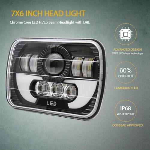 Pair LED Headlights For Freightliner FL106 FL112 FL60 FL70 FL80 FS65 MT35 MT45