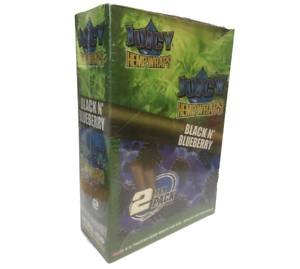 Juicy-Jay-Black-N-039-Blueberry-Wraps-Box-25-PACKS-Flavor-2-Wraps-Pack