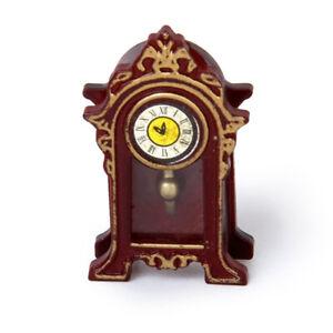 1-12-Dollhouse-Miniature-Halls-Classic-Table-Clock-M2L9-U3M7