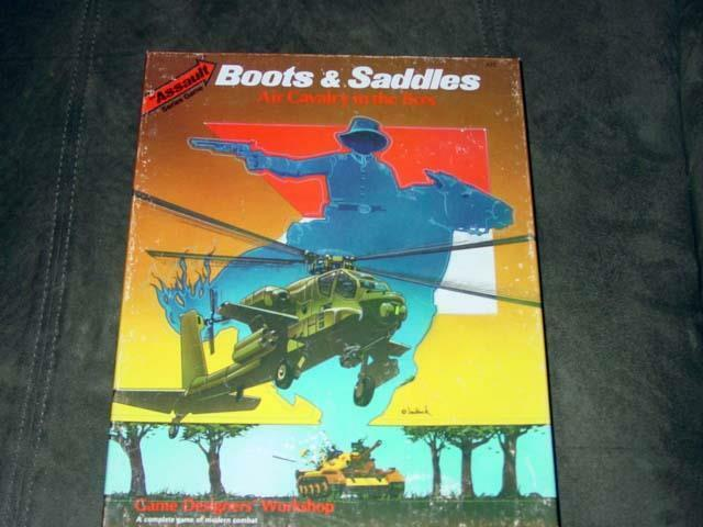 GDW - Assault Series gioco  - stivali & SADDLES - Air Cavalry in the 1980's (UNP)  3  marchio famoso