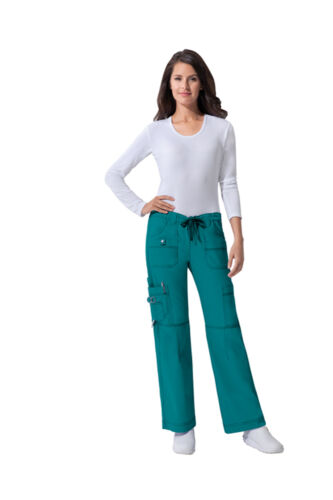 Teal Blue Dickies Scrubs Gen Flex Low Rise Drawstring Cargo Pants 857455 DTLZ