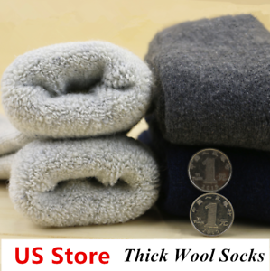 3-Pack-Mens-Wool-Cotton-Cushioned-Socks-Thick-Thermal-Solid-Casual-Sports-Winter