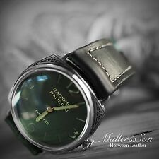 Müller&Son Genuine Horween Leather 26 mm Black Watch Strap Handmade for Panerai