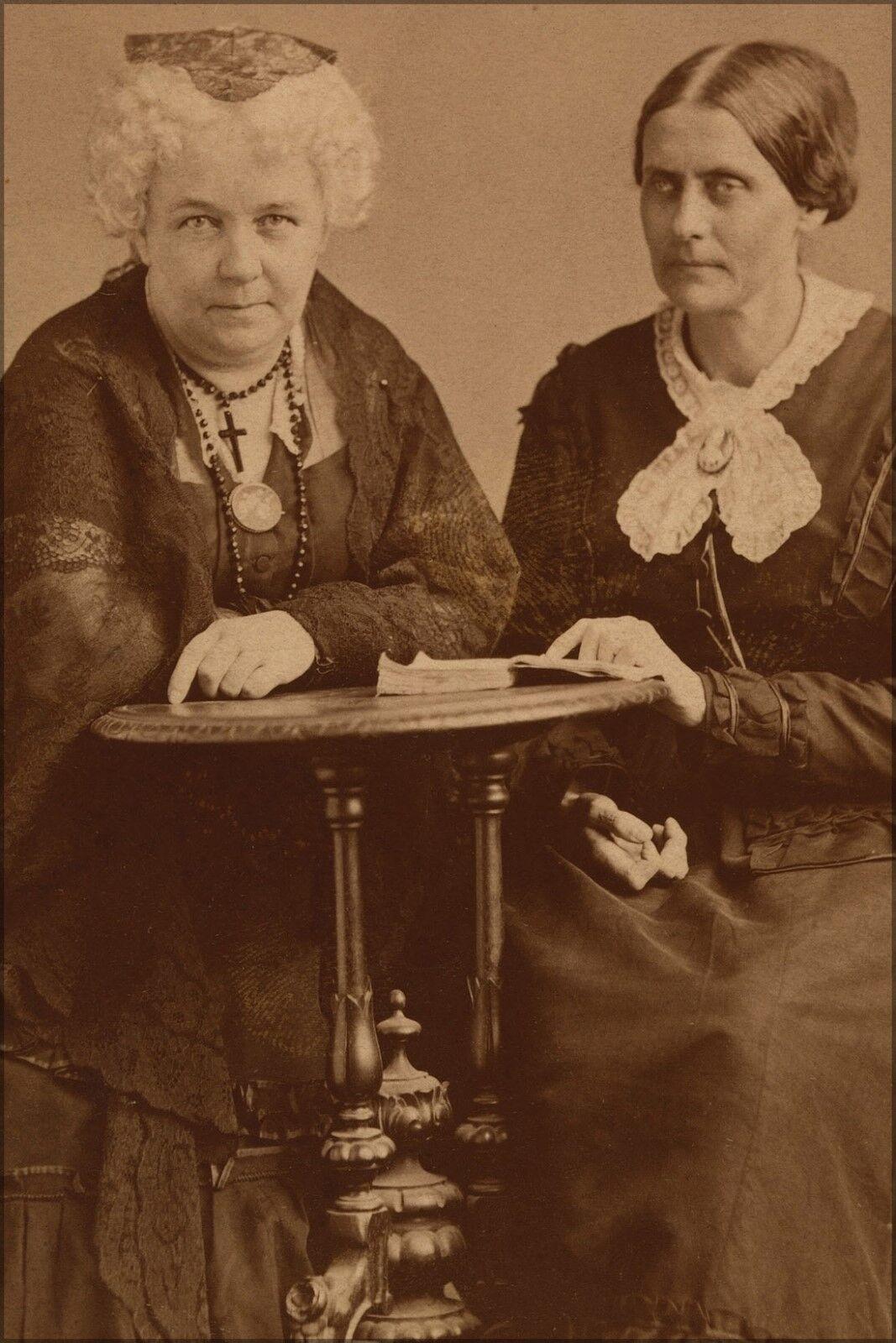 Plakat, Viele Größen; Elizabeth Cady Stanton und Susan B.Anthony 1870
