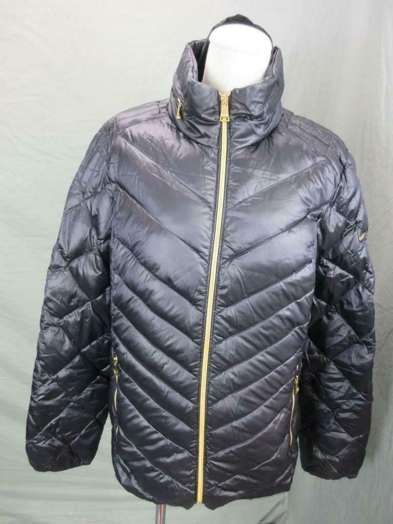 Bebe Size L Womens Purple Full Zip Insulated No Hood Quilted Jacket T664