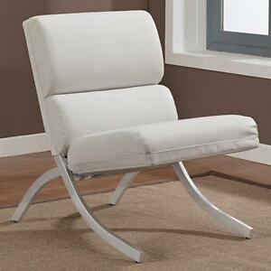 Rialto Bonded Leather White Chair Living Room Seat Furniture Accent Home Chair Ebay
