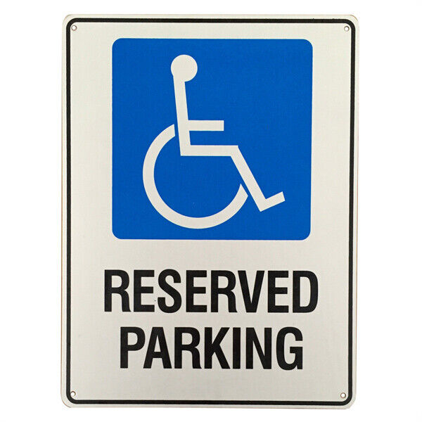 Warning Reserved Parking Only Sign Disabled 225x300mm Metal Aluminium Traffic