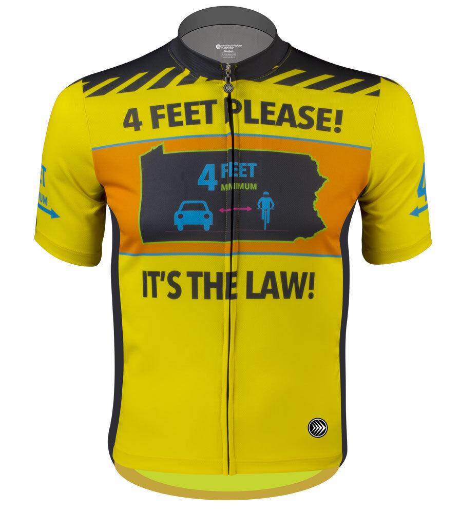 Aero Tech Designs giallo 4 Top Cycling Bike Jersey 4 giallo FEET PLEASE Law Made in USA f89363
