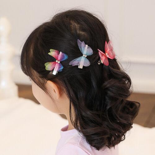 Papillon 3D Clips Cheveux Mixte imitation Festival Été Mariage Fête Enfant Cadeau