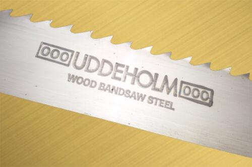 Bandsägen UDDEHOLM  Länge von 4000-4100 mm Breite von 6 bis 30 mm