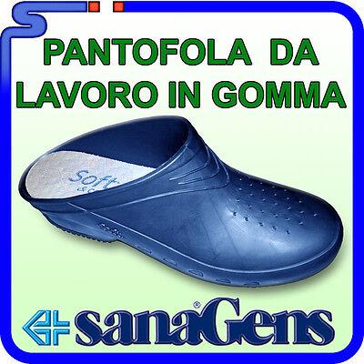 codice promozionale 12c61 62764 ZOCCOLI PANTOFOLE DA LAVORO SANAGENS SOFT & COMFORT BLU CON ...