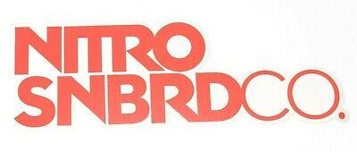 "LARGE NITRO SNOWBOARD COMPANY LOGO STICKER 10/"" x 3.5/"" $6 White Red snowboarding"