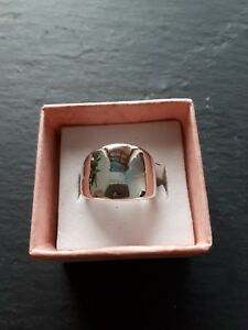 Brand-new-childs-silver-shiny-ring-UK-size-H-Kids-childrens-gift