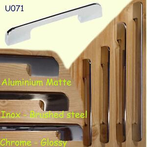 Slimline Küche Tür Schrank Schublade Griffe Inox Gebürsteter Stahl U071