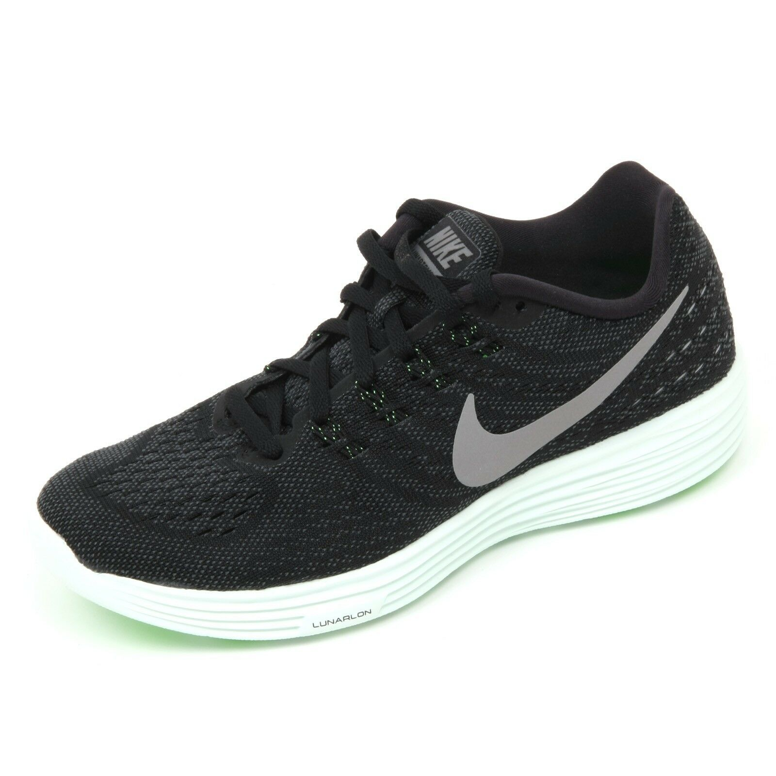 C5962 Sneaker mujer kg) NIKE LUNARTEMPO 2 lb (approx. 0.91 kg) mujer NERO/Gris Zapato Mujer 58706d