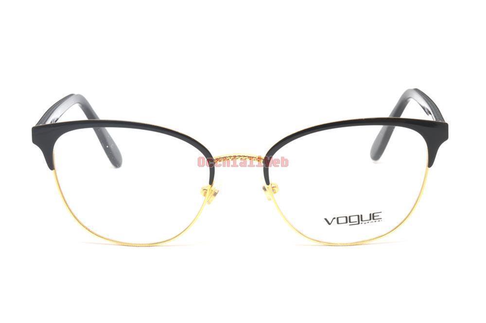 68a1d44c90 Eyeglasses Vogue Woman Black Gold Vo4088 352 52-18-140 for sale ...