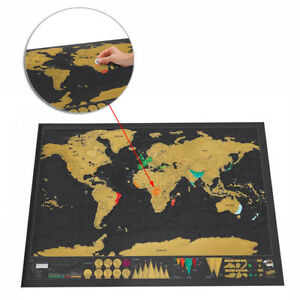 Scratch Off Map World Deluxe Large Personalized Travel Poster Travel Atlas【AU】 713543790207