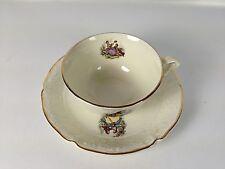 collection jolie tasse café ancienne en faïence CERANORD St AMAND semi vitrifié