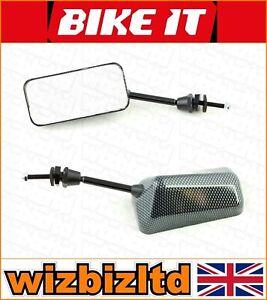 Bikeit-Paar-F1-Carbon-40mm-Kurz-Universal-Verkleidung-Montage-Spiegel-MRUF1CBNS